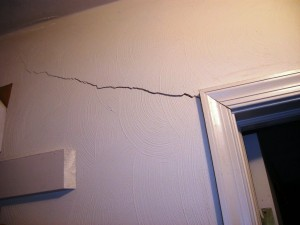 Cracks in the walls like these, are an immediate sign of bad foundation.