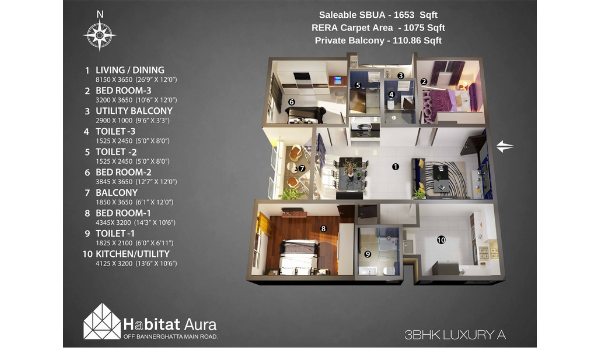 1@3BHK LUXURY - A