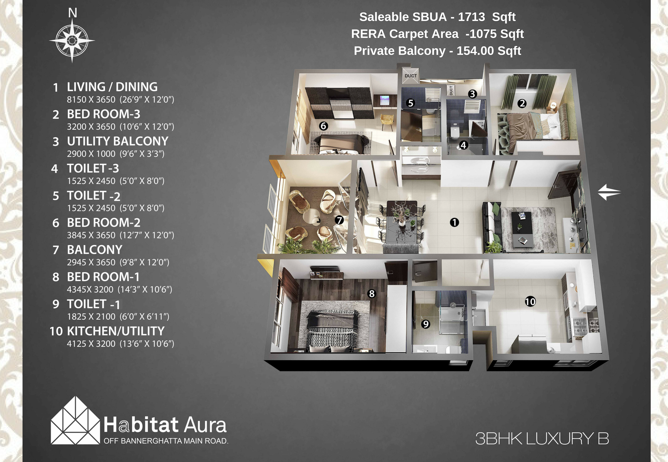 2@3 BHK LUXURY - B